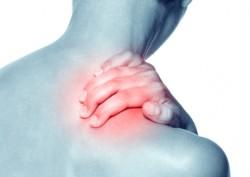 neck pain at shoulder base