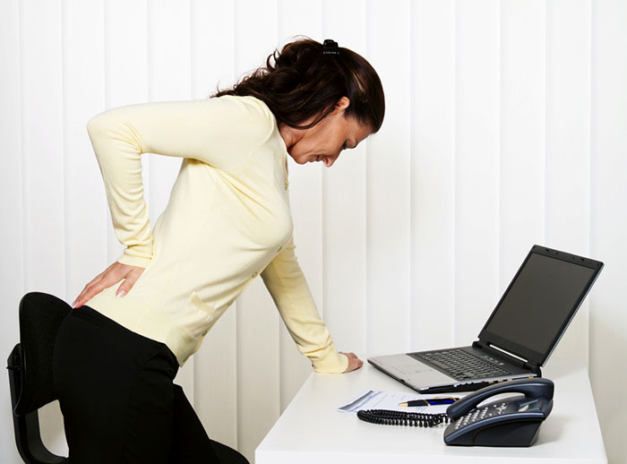 woman with lower back pain