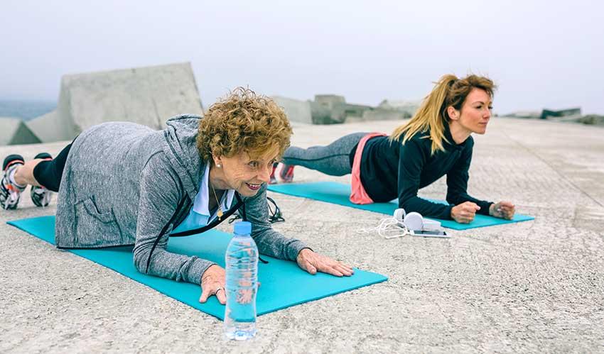 senior plank exercise