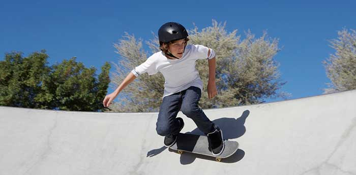 Teenager at the skateboard park
